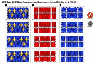 BFL3101  Ordonnance and Renaissance National Pike Banners - French